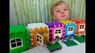 Рождение Динозавра в Лего Городе Ищем игрушки открываем домики сюрпризы Funny video Baby Dinosaur