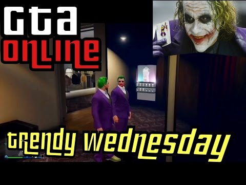 GTA 5 Online - TRENDY WEDNESDAY! (The Joker) [ GTA V Cool Outfits]
