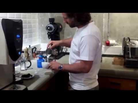 Latte art training by Barista Dritan Alsela - YouTube