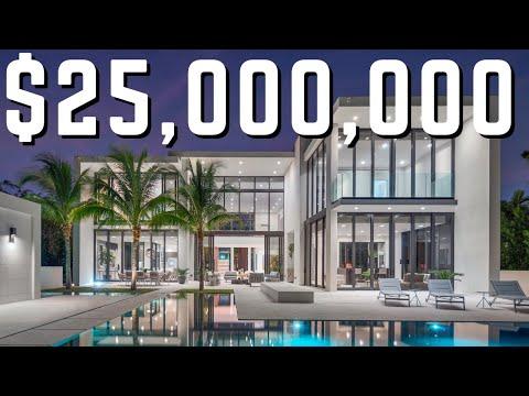 ✪✪✪✪ Най-новото МЕГА имение на брега на Маями за 25 000 000 долара!