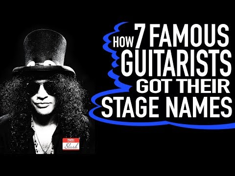 How 7 Famous Guitarists Got Their Stage Names
