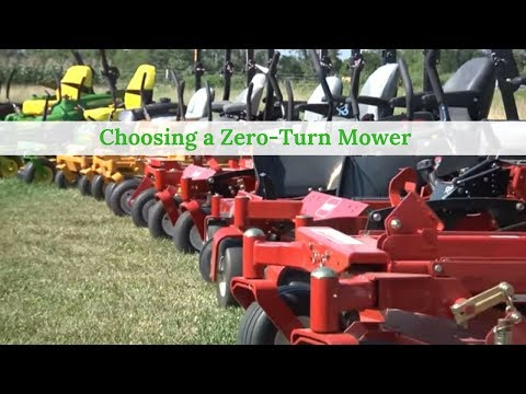 Choosing a Zero-Turn Mower