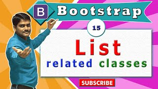 Bootstrap Tutorial 15 - List Related Classes in Bootstrap
