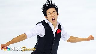 Nathan Chen soars to first place after short program in Grenoble | NBC Sports