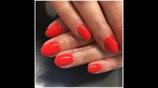Mosaic UV Lac (Stay Hot) full soak off, manicure and reapplication in 45 min by Anna