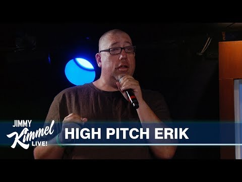 Behind the Scenes with Jimmy Kimmel & Audience (High Pitch Erik)