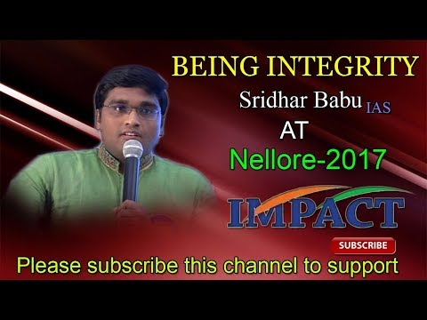 How To Prepare for CIVILS | Sridhar Babu Addanki | TELUGU IMPACT Nellore 2017