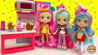 Chef Club Season 6 Shopkins Shoppies Doll Peppa Mint, Jessicake, Bubbleisha with Exclusives