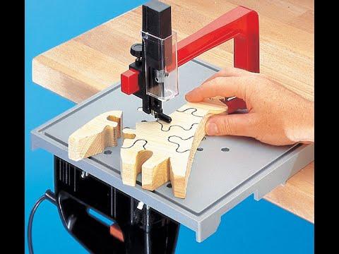 Dekupiersäge-Vorsatz zum Stichsäge Tisch von Neutechnik - Holzwerken mit Stichsäge