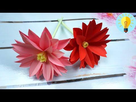 , title : 'Blumen basteln mit Papier | Blume basteln  | Geschenke basteln | Origami Blume