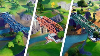 Visit the Red, Yellow, Green, Blue, Purple Steel Bridges Locations - Fortnite Week 5 Deadpool Guide