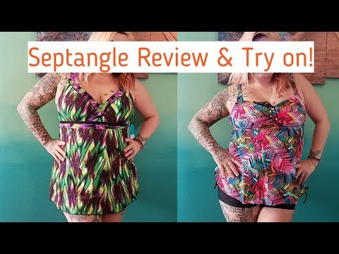 Septangle Swimsuit Review! Swim dress and Tankini Try on! GIVEAWAY OPEN
