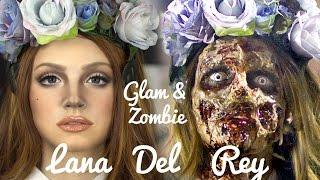 Lana Del Rey Zombie Makeup transformation