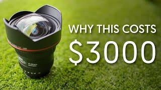 Perchè L'obiettivo Canon 11-24 mm f / 4L costa così tanto?