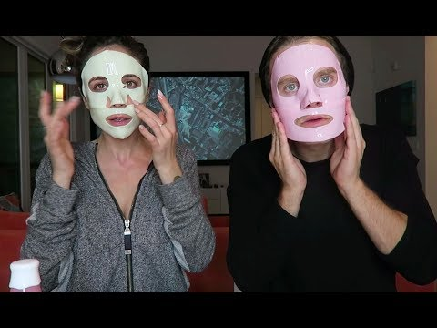Trying Dr. Jart+ Rubber Face Mask w/ Bart Baker - TEST AND REVIEW  | Beauty And The Boyfriend