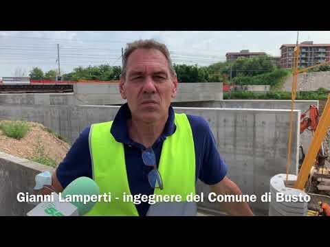 La spinta delle 5 mila tonnellate di sottopasso a Busto Arsizio