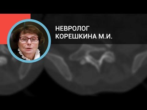 Невролог Корешкина М.И.: Боли в спине
