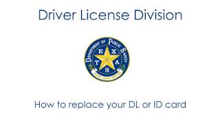 How To: Replace Your DL or ID Card