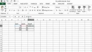 When Doing Excel Formulas, How Do I Lock in a Number? : Microsoft Excel Help