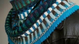 Модели вязания Из остатков пряжи градиент. Печворк.