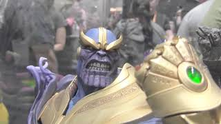 SDCC Sideshow Collectibles Booth Thanos, Black Panther and More!