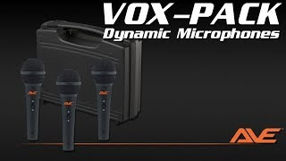 AVE VOX-PACK Dynamic Microphone Pack