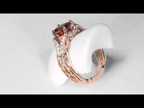 Rose Gold Imperial Zircon Ring 2.58 Carat Designed By Christopher Michael