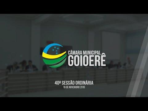 40ª Sessão Ordinária 2018