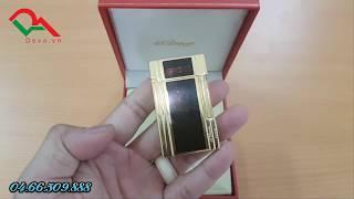 Bật lửa Dupont  sơn mài đen vàng tiếng thanh D89 | Deva.vn | Giá 650.000 Đ