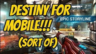 SHADOWGUN LEGENDS Android / iOS Gameplay Video | Destiny for Mobile First Missions