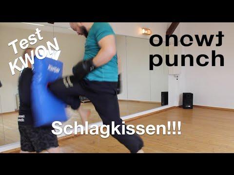 Test gebogene Schlagkissen Kwon Schlagpolster zum zerstören One Two Punch Mr. Checkr Vitali Becker