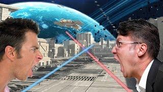 People Lightsaber Battle (360 Video)