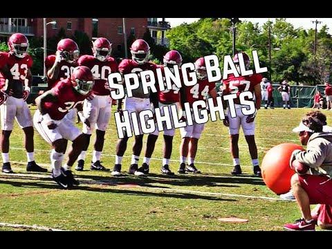Alabama Football Highlights (Spring Practice No. 13)