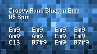 Funky & Groovy Blues Backing Track  (E Minor) - 115 Bpm