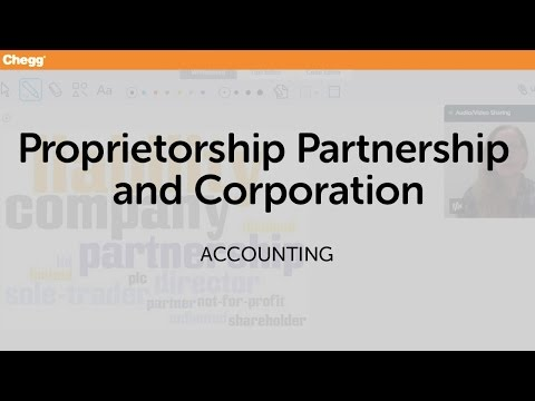 Proprietorship, Partnership, And Corporation