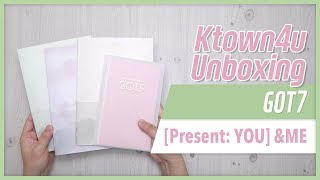 Gambar cover [Ktown4u Unboxing] GOT7 - [Present: YOU] & ME 갓세븐 ガッセブン 언박싱 Kpop