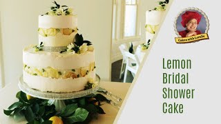 Lemon Slice Fault Line Cake 🍋 Bridal Shower Cake Designs 👰 Cakes With Lorelie