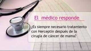 Tratamiento con Herceptin tras la cirugía de cáncer de mama