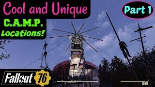 Fallout 76: Cool and Unique C.A.M.P. Locations! Part 1