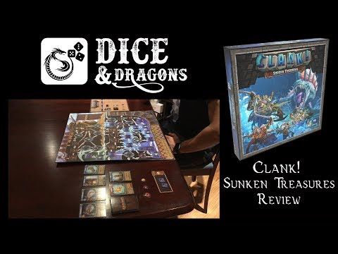 Dice and Dragons - Clank! Sunken Treasures Review