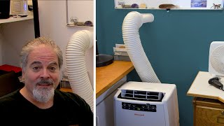 Portable Air Conditioner - No window? No problem! Vent exhaust thru wall, stealthy magnetic cover.