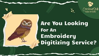 Embroidery Digitizing service At Your Fingertip | Cre8iveSkill