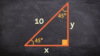Pc Unit 3 How to find the missing side of a right triangle given a 45 45 90 triangle