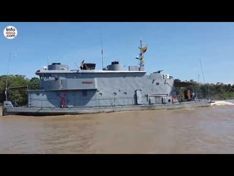 Viaje a bordo del ARC Cotuhe en el Amazonas