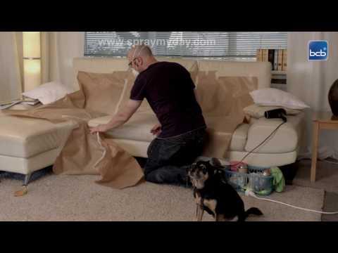 Lederreparatur mit Lederspray - Sofa