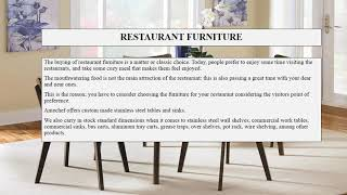 Tables and Chairs for Restaurants in Miami