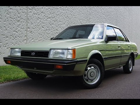 1985 Subaru GL 4WD Sedan Light Green Metallic