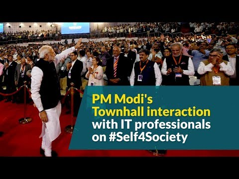 PM Modi's Townhall interaction with IT professionals on #Self4Society
