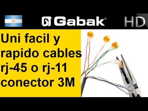 Empalme union de cable de red o telefonía  (usando conectores 3M uy2)