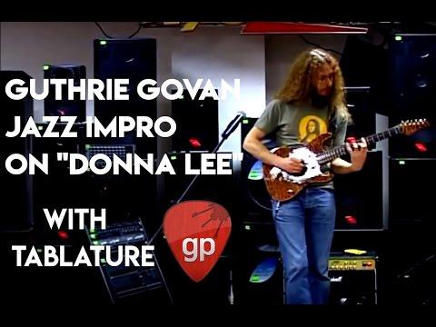 Guthrie Govan - Donna Lee v2 (Charlie Parker Bebop) w/ tab